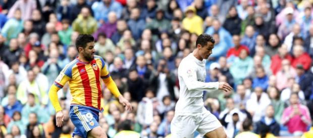 Cristiano dio la victoria al Real Madrid contra el Valencia con sus dos goles