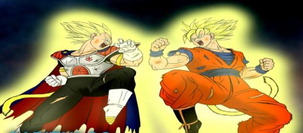 Goku contra el principe Vegeta