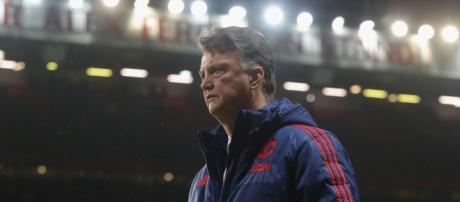 Louis Van Gaal Looks like a Man Under Pressure at Old Trafford (picture by Leigh Fodright)