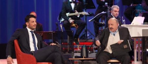 Fabrizio Corona durante il Maurizio Costanzo Show