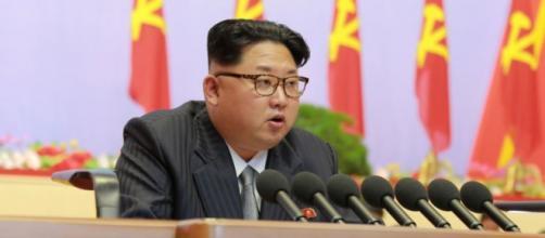 Kim Jong-un en su discurso sobre las armas nucleares