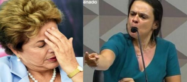 Dilma e Janaína Paschoal - Foto/Montagem