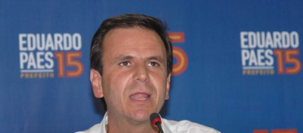 Eduardo Paes 'esquece' Dilma (Wikimedia)