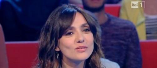 Ambra Angiolini durante l'intervista a l'Arena