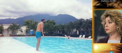Antonio Tejado disfruta de la piscina tras SV 2016.
