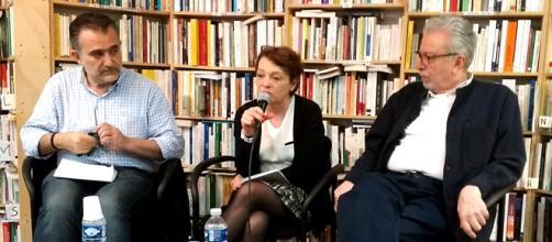De g. à d. : Salam Kawakibi, Hala Kodmani et Farouk Mardam Bey. (Photo : Bernard Henry)