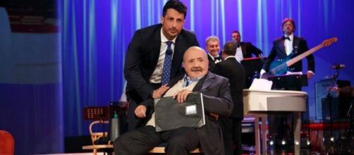 Fabrizio Corona con Maurizio Costanzo