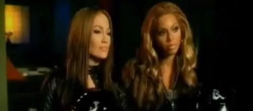 Screenshot of Jennifer Lopez and Beyonce. JLoGreece1/YouTube.