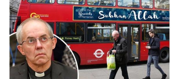 Sloganuri musulmane pe autobuze în Marea Britanie