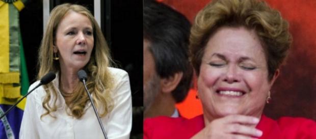 Vanessa e Dilma Rousseff - Foto/Montagem