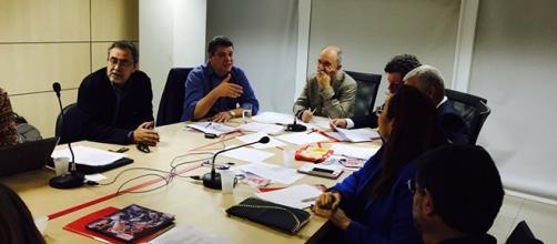Rui Falcão na reunião do partido