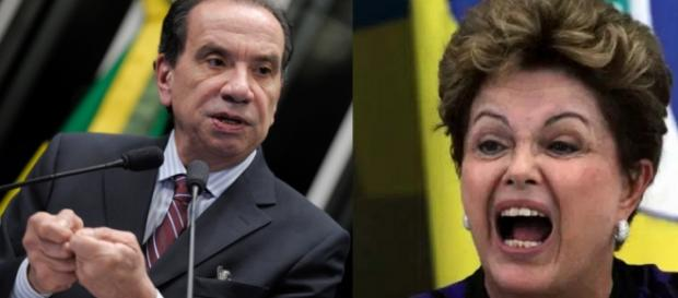 Aloysio Nunes e Dilma Rousseff - Foto/Montagem