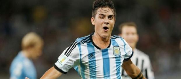 Dybala con la selección argentina de fútbol.