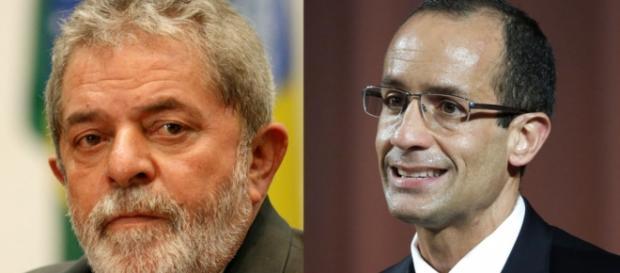 Ex-presidente Lula e Marcelo Odebrecht em destaque.