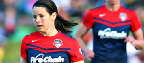 Washington Spirit's Diana Matheson/Photo via National Women's Soccer League