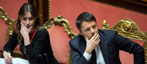 Matteo Renzi ed il ministro delle riforme Maria Elena Boschi