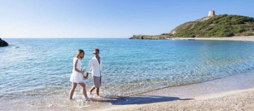 Una delle tante spiagge di Chia, a Domus de Maria, in Sardegna.