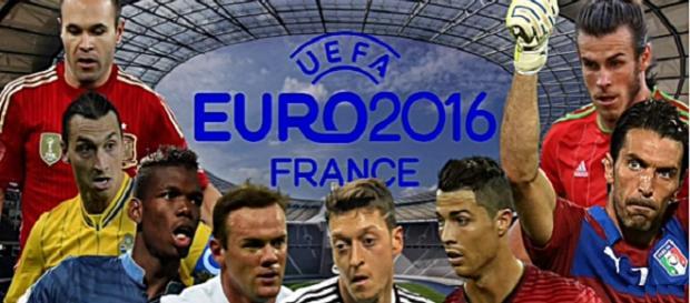 Algunos jugadores de la Eurocopa Futbol Mas