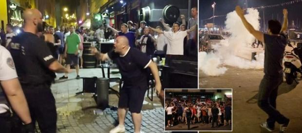 """Huliganii englezi fac ravagii la Euro 2016- ciocniri cu populația și scandări de genul """"ISIS unde ești?"""""""