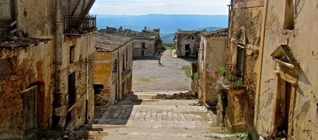Le rovine di Poggioreale, valle del Belice, Sicilia