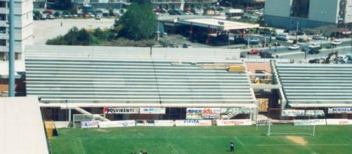 Gi ultimi lavori allo Stadio Comunale - Stagione 1999/00.