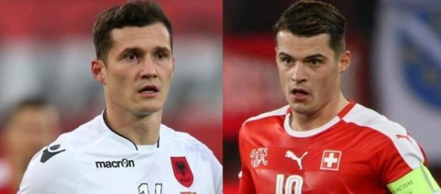 Albania - Elveția, duelul fraților