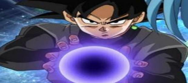 Black Goku lanzando el ¿Kame-Kame-Ha?