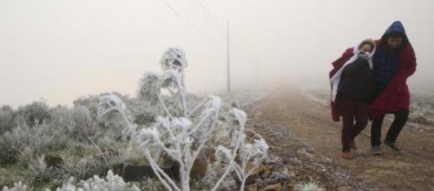 Frio intenso e geada no Sul do Brasil