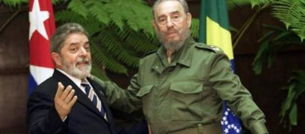 Luiz Inácio Lula da Silva e Fidel Castro