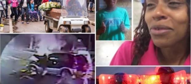 Polícia muda depoimento sobre morte de menino