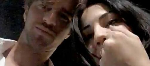 Andrea e Giulia : foto tratte dal video pubblicato su Snapchat .