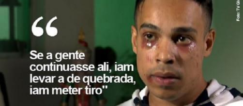 Caio Tomaz da Rocha e seu namorado foram agredidos por seguranças do CTN, em São Paulo (Foto: TV Globo)