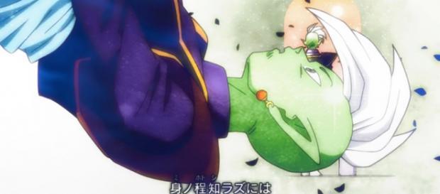 Supuesto Supremo Kaiosama siendo asesinado por Gokú Black.