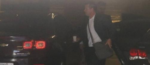 Dunga chega à sede da CBF, no Rio de Janeiro (Foto: Guilherme Pinto / Extra)
