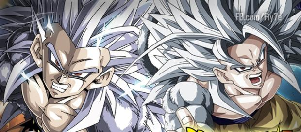 Dragon Ball Super: Goku y Vegeta SSJ Dios Blanco