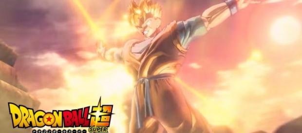 Gohan del futuro en su transformacion en super saiyajin