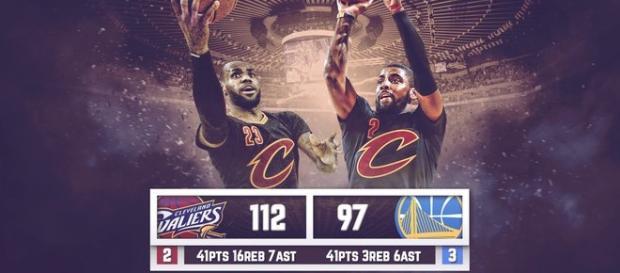 LeBron James y Kyrie Irving jugaron un partido espléndido