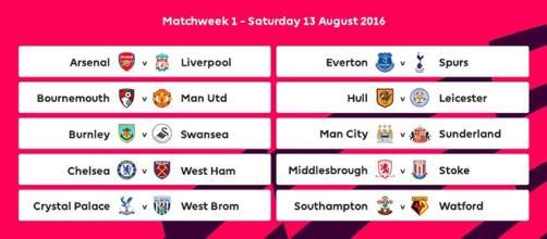Calendario Partite Premier League.Premier League 2016 17 Date Inizio E Fine Campionato