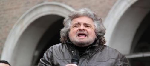 Imagen de Beppe Grillo en un mitín político. Flickr