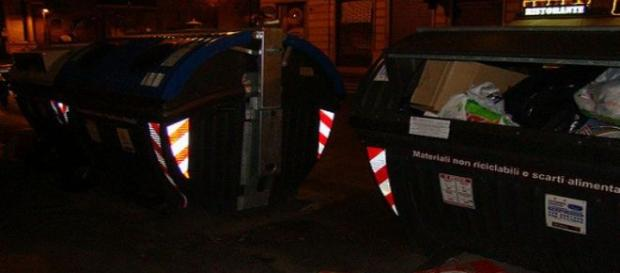Contenedores de basura de Roma. Flickr