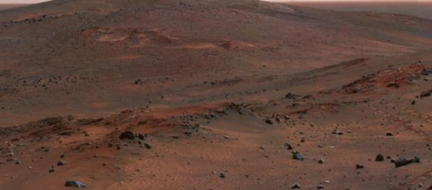 Fotografía de Marte, el planeta rojo