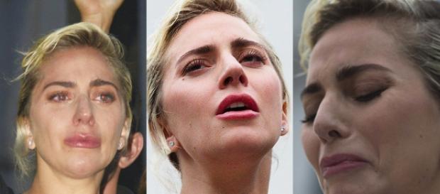 Lady Gaga chorou durante seu belo discurso. Foto: RDT Lady Gaga / Facebook