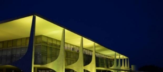 O Palácio do Planalto, em Brasília