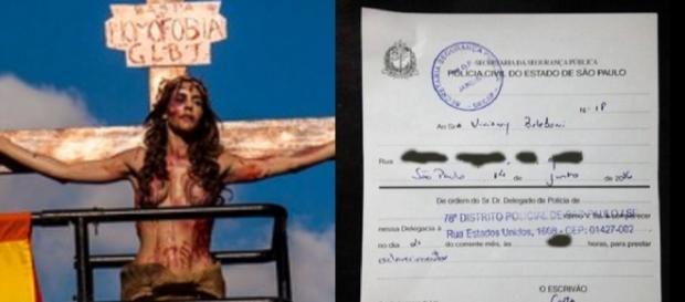 Transex foi crucificada na Avenida Paulista