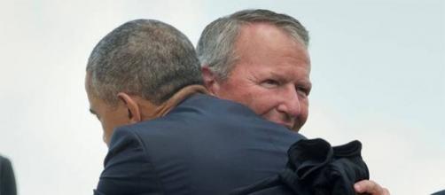 Barack Obama visitando Orlando