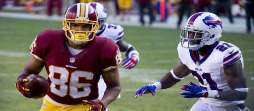 Jordan Reed's injury history precludes him from being a top fantasy pick. (Image via Flickr)