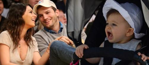 Mila Kunis e Ashton Kutcher já têm um bebê