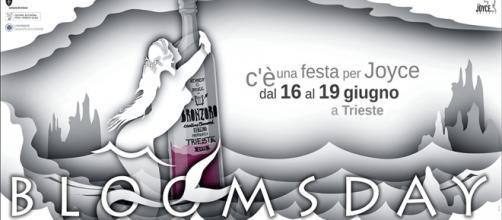 Un manifesto del Bloomsday, in corso a Trieste