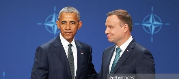 Barack Obama i Andrzej Duda na konferencji prasowej (gettyimages.com)