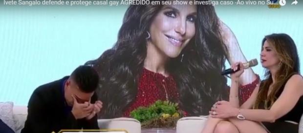 Fã chorou copiosamente ao receber a ligação de Ivete Sangalo. Foto: reprodução Youtube